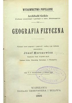 Geografia fizyczna 1895 r.