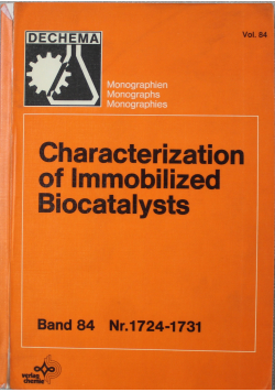 Characterization of Immobilized Biocatalysts Band 84