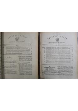Dziennik Ustaw numery od 1 do 116 2 części 1922 r