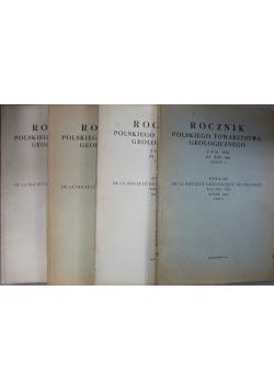 Rocznik polskiego towarzystwa geologicznego tom XXX zeszyt od 1 do 4 1960 r