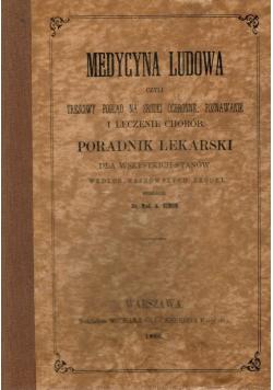 Medycyna Ludowa Reprint 1860 r