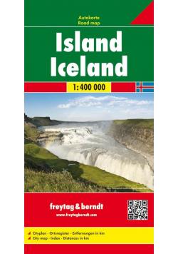 Island Iceland Mapa