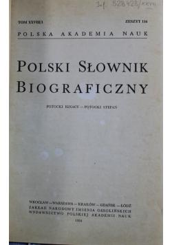 Polski słownik biograficzny tom XXVIII zeszyt 116