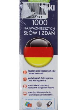 Niemiecki fiszki 1000 najważniejszych słów i zdań + CD
