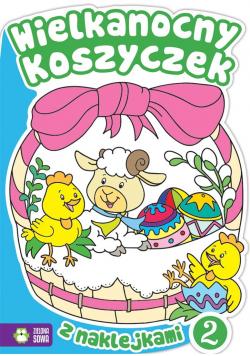 Wielkanocny koszyczek 2 z naklejkami