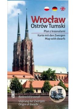Wrocław. Ostrów Tumski. Plan z krasnalami