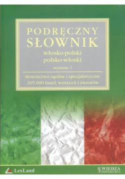 Podręczny słownik włosko - polski polsko - włoski Płyta CD- ROM