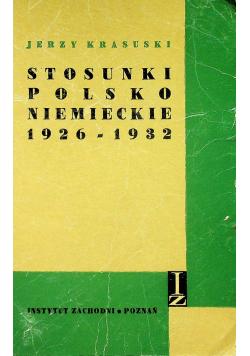 Stosunki polsko niemieckie 1926 1932
