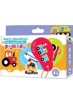 Karty obrazkowe na sznureczku - Pojazdy