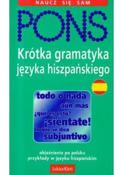 Krótka gramatyka języka hiszpańskiego