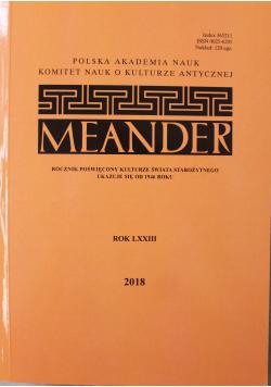 Meander rok LXXIII