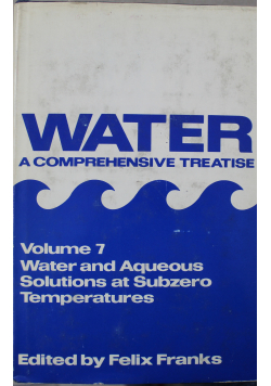 Water a comprehensive treatise Volume 7
