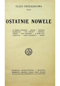 Ostatnie nowele 1921 r.
