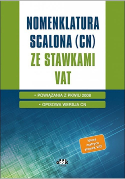 Nomenklatura scalona (CN) ze stawkami VAT/KS1359