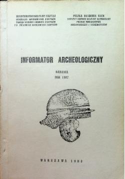 Informator Archeologiczny badania 1982
