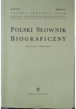 Polski słownik biograficzny zeszyt 212