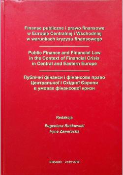 Finanse publiczne i prawo finansowe w Europie Centralnej i Wschodniej
