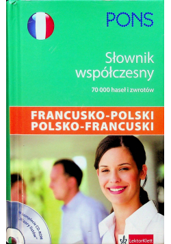 Słownik współczesny francusko polski polsko francuski plus płyta CD