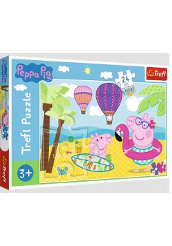 Puzzle 24 maxi Świnka Peppa na wakacjach TREFL