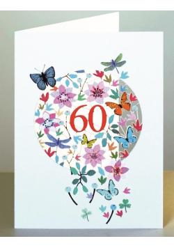 Karnet F60 wycinany + koperta Urodziny 60