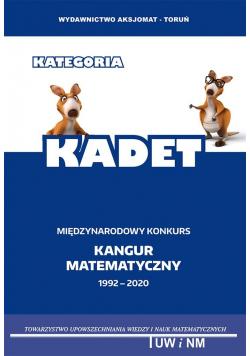 Matematyka z wesołym kangurem kategoria Kadet 2020