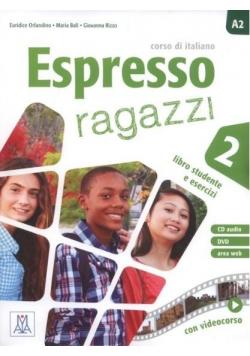Espresso ragazzi 2 podręcznik + CD audio + DVD