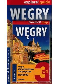 Mapa samochodowo turystyczna  Węgry