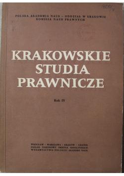 Krakowskie studia prawnicze rok IV