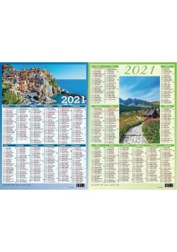 Kalendarz 2021 plakietka MIX