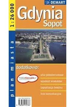 Sopot Gdynia plan miasta 1:23 000