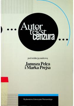 Autor tekst cenzura