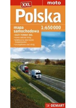 Polska mapa samochodowa 1 : 650 000