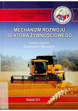 Mechanizm rozwoju sektora żywnościowego