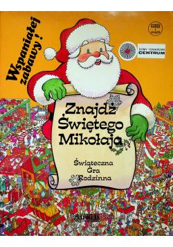 Znajdź świętego Mikołaja świąteczna gra rodzinna