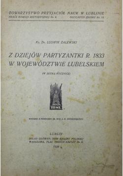 Z dziejów partyzantki r 1833 w województwie lubelskim 1934 r