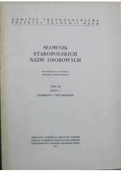 Słownik Staropolskich Nazw Osobowych Tom III Zeszyt 3
