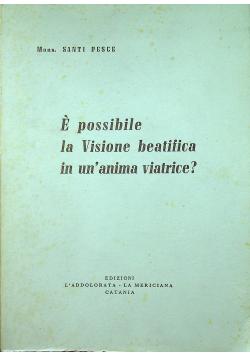 E possibile la Visione beatifica in un anima viatrice