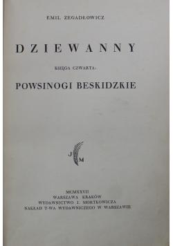 Dziewanny księga czwarta powsinogi beskidzkie 1927 r.