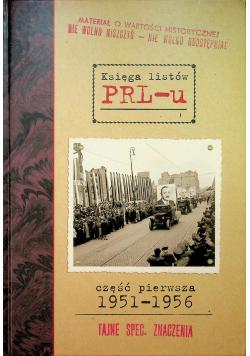 Księga listów PRL  u Część pierwsza 1951  1956