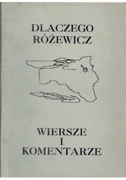 Dlaczego Różewicz Wiersze i komentarze