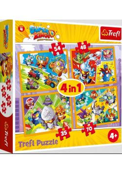 Puzzle 4w1 Super Zings Bohaterowie 4 TREFL