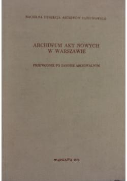 Archiwum akt nowych w Warszawie