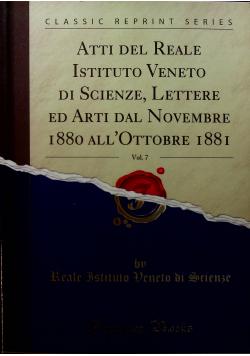 Atti del Reale Istituto Veneto di Scienze vol 7 Reprint z 1880 r