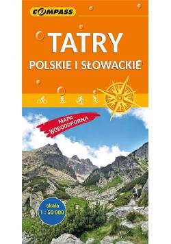 Mapa wodoodporna - Tatry Polskie i Słowacki