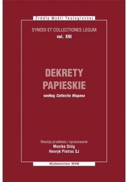 Dekrety papieskie. Synodi et collectiones legum