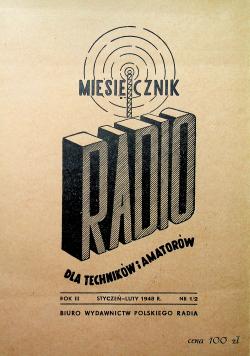 Miesięcznik RADIO dla techników i amatorów rok III i IV marzec ok 1948r  24 numery
