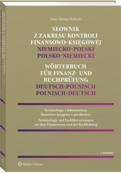 Słownik z zakresu kontroli finansowo-księgowej