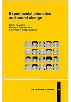Experimental phonetics and sound change