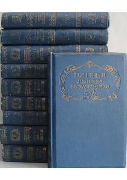 Dzieła Juliusza Słowackiego Tom od I do X 1909 r