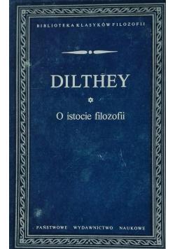 Dilthey O istocie filozofii